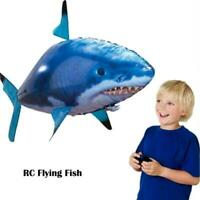 Remote Control Flying Fish RC Plastic Inflatable Blimp Balloon Toys X0O5 V8C6