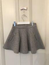 Bonpoint en laine gris filles style patineuse jupe avec les fermetures à glissière