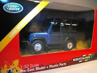 MODEL LAND ROVER DEFENDER BLUE Toy Land Rover Diecast  BRITAINS FARMS SCALE 1:32