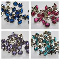 7mm x 10pcs Diamante Rivets Studs in Different Colours for Crafts Work Decor UK