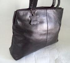 Borsa in Pelle Nera Handbag shopper doppio cinturino