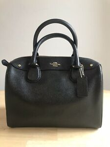 Coach Black Leather Small Cross Body Shoulder Bag