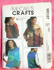 Uncut McCalls Misses 8-22 Loose Fitting Color Block Jacket & Vest Pattern 5127