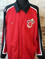 Vintage 90s Nike Team Sports Authentic NBA Miami Heat Warm Up Jacket NWOT 3XL