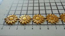 2 M-Gold, Daisy Flower Motif, applique, Trimmings, Wedding-Lace Ribbon-w-2cm