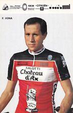 CYCLISME carte cycliste F.VONA équipe  CHATEAU D'AX