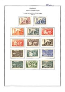 [OP2895] Andorra lot of stamps on 9 pages