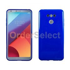 NEW HOT! Ultra Slim Protector Candy Glossy Phone Case for Android LG G6 Blue