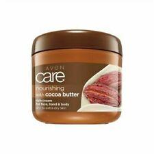 4 X Avon Care Nourishing Cocoa Butter Rich Cream Face Hand & Body 400ml