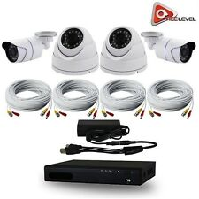 AceLevel 4 Channel HD AHD DVR Kit: 2x720P Bullet & 2x720p Dome Cameras and 1TB