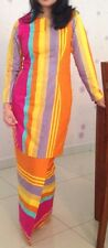 Multi-coloured baju kurung