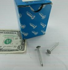 """100 Electro Galvanized Roofing Nails 1-1/2"""" Long, 3/8"""" Diameter Head, 1/8"""" Shank"""