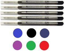 5 Monteverde Ballpoint Pen Refills, Parker Style, GEL Ink, Fine Point