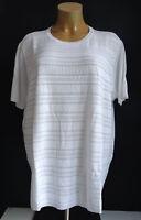 New plus Size Super Chic Ladies short Sleeve Fine Knit Jumper in White Gr.60