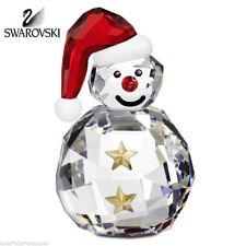 *NIB* SWAROVSKI RETIRED ROCKING SNOWMAN W/HAT CHRISTMAS FIGURINE #5103227
