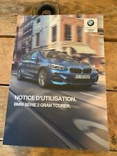 Manuel Notice D Utilisation BMW Série 2 Gran Tourer