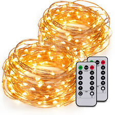 2pc 20ft 60LEDs Fairy String Lights String Copper Wire AA Battery Power& Control