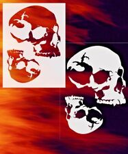 Skull 29 Double Set Airbrush Stencil Spray Vision Template air brush