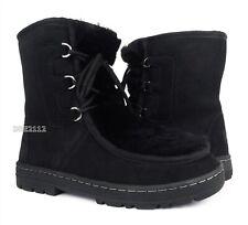 UGG Mukluk Revival Black Suede Fur Boots Womens Size 8 *NIB*