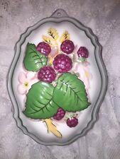 Le Cordon Bleu Franklin Mint - Raspberry with Flowers Mold - 1986