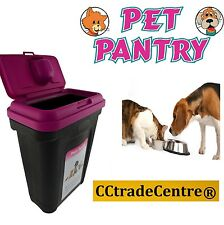 Pet Dog Cat Animal 15KG Dry Food Container Storage Box 25 KG Bird Seed PINK