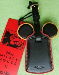 COACH DISNEY HARING MICKEY MOUSE LUGGAGE TAG:NWT C3545