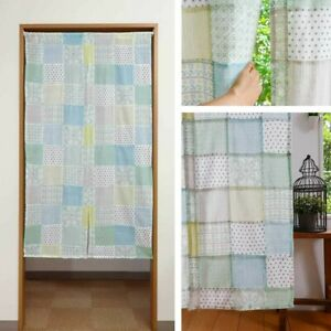 Patchwork style Noren Japanese door curtain Cotton Green 85 150 Japan Colorful