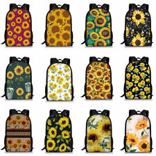 Sunflower Floral Women Lady Backpack Travel Anti-theft Girl  Laptop School Bag