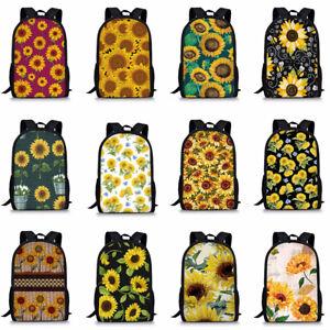 Sunflower Floral Women Lady Backpack Anti-theft Travel Girl School Bag Rucksack
