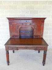 Antique Period Signed David Shearer Pennsylvania 2 Piece Plantation Desk