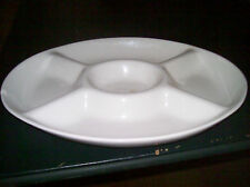 Huge, Heavy 5 Section Blanc De Blanc Relish Tray: White Ceramic Collection