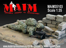 MAIM U.S.ARMY GI SAW GUNNER WITH BASE SCALA 1:35 COD.ART.35103