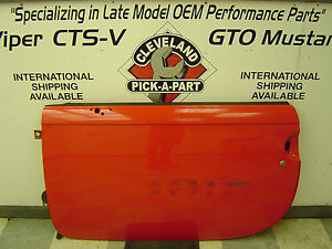 2003-2006 Chevrolet SSR OEM Left Driver Door Bare Shell w/o Glass or Latch Red