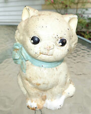 old cast iron Hubley seated cat  still bank