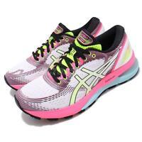 Asics Gel-Nimbus 21 SP White Pink Rise Bryte Womens Running Shoes 1012A502-100