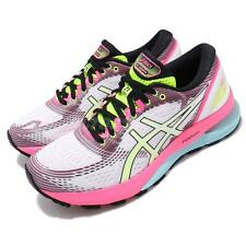 Asics Gel-Nimbus 21 SP White Pink Rise Bryte Womens Running Shoes 1012A502-100
