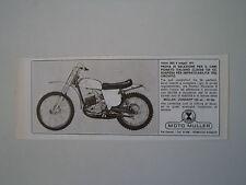 advertising Pubblicità 1973 MOTO MULLER ZUNDAPP 125 CROSS