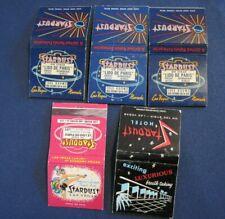Vintage Matchbook Cover LAS VEGAS Lot of 5 Stardust Hotel