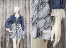 Odd Molly Womens Top Shirt Striped/Lace size 4 /UK14