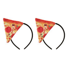 2pcs Girls Women Pizza Fast Food Headband Headpiece Costume Cosplay Hairband