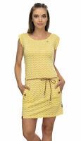Ragwear Tag Zig Zag Damen Sommer-Kleid yellow XS-M Neu