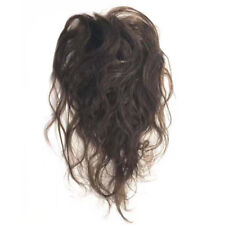 Human Hair Nature Curly Topper 6x10cm Fluffy Hairpiece With Bangs 20cm for Women