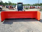 NEW HLA BUCKET MOUNTED SNOW PUSHER FOR SKID STEERS, 144' WIDTH, 38' MOULDBOARD