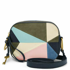 NWT Fossil ZB7757195 Navy Patchwork Leather Elle Crossbody Messenger