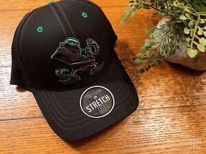 Zephyr NCAA Black Notre Dame Fighting Irish Hat Tailored Curved Bill Size M