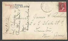 DATED 1899 COVER PENNINGTON NJ SEMINARY W/LETTERHEAD TO GENL JAMES SEE INFO