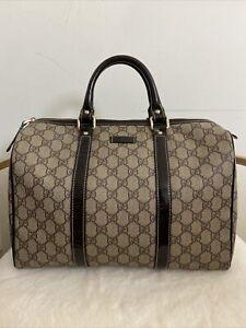 Gucci Beige/Brown GG Medium Joy Boston Bag