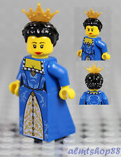 LEGO - Female Minifigure Blue/Gold Dress w/ Crown Queen Princess Castle 7079