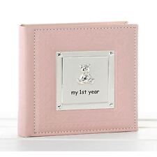"""My First Year Pink Baby Photo Album 17.5cm High 50 Pages Takes 6"""" x 4"""" 15 x 10cm"""
