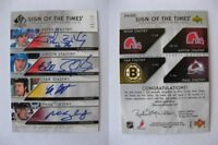 2006-07 SP Authentic Peter Anton Paul Yan Stastny 08/10 quad auto autograph SOTT